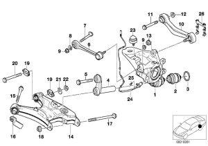 2002 BMW 745i Eccentric bolt M14x105109 Alpina, suspension, rear  33326779785 | BMW of