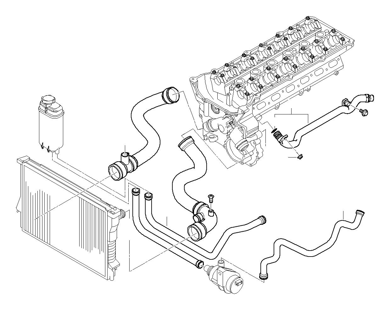 Bmw 525i Water Hose Hoses Engine Cooling