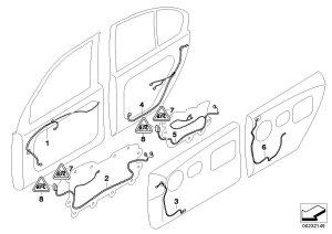 BMW 745Li Door wiring harness, rear door trim Cable  61126923701   BMW Northwest, Taa WA