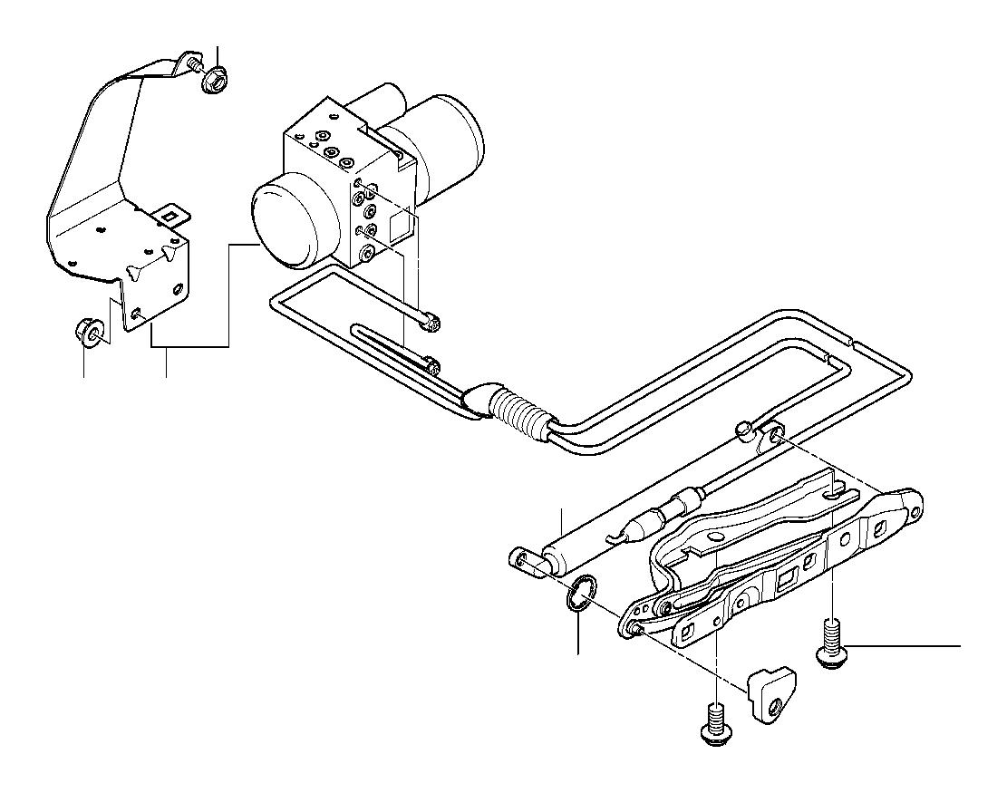 Bmw 740il Hydro Unit Lid Trunk