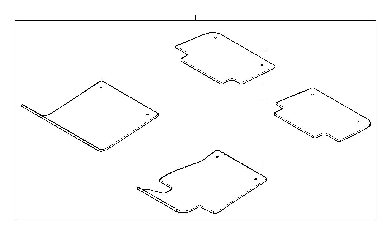 Bmw 325ci Set Of Floor Mats Velours Beige Interior
