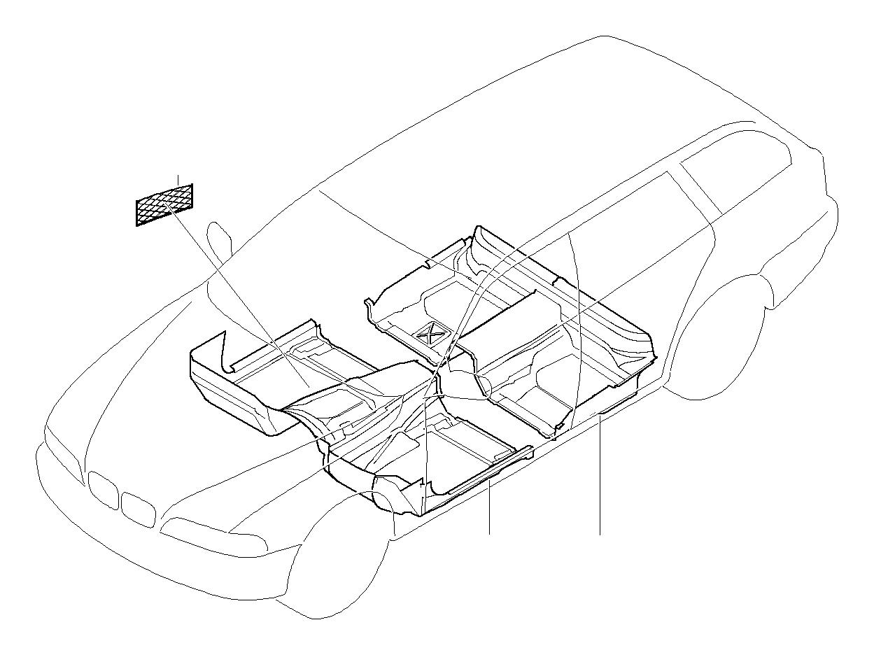 Bmw 540i Floor Covering Rear Grau Trim Body Interior