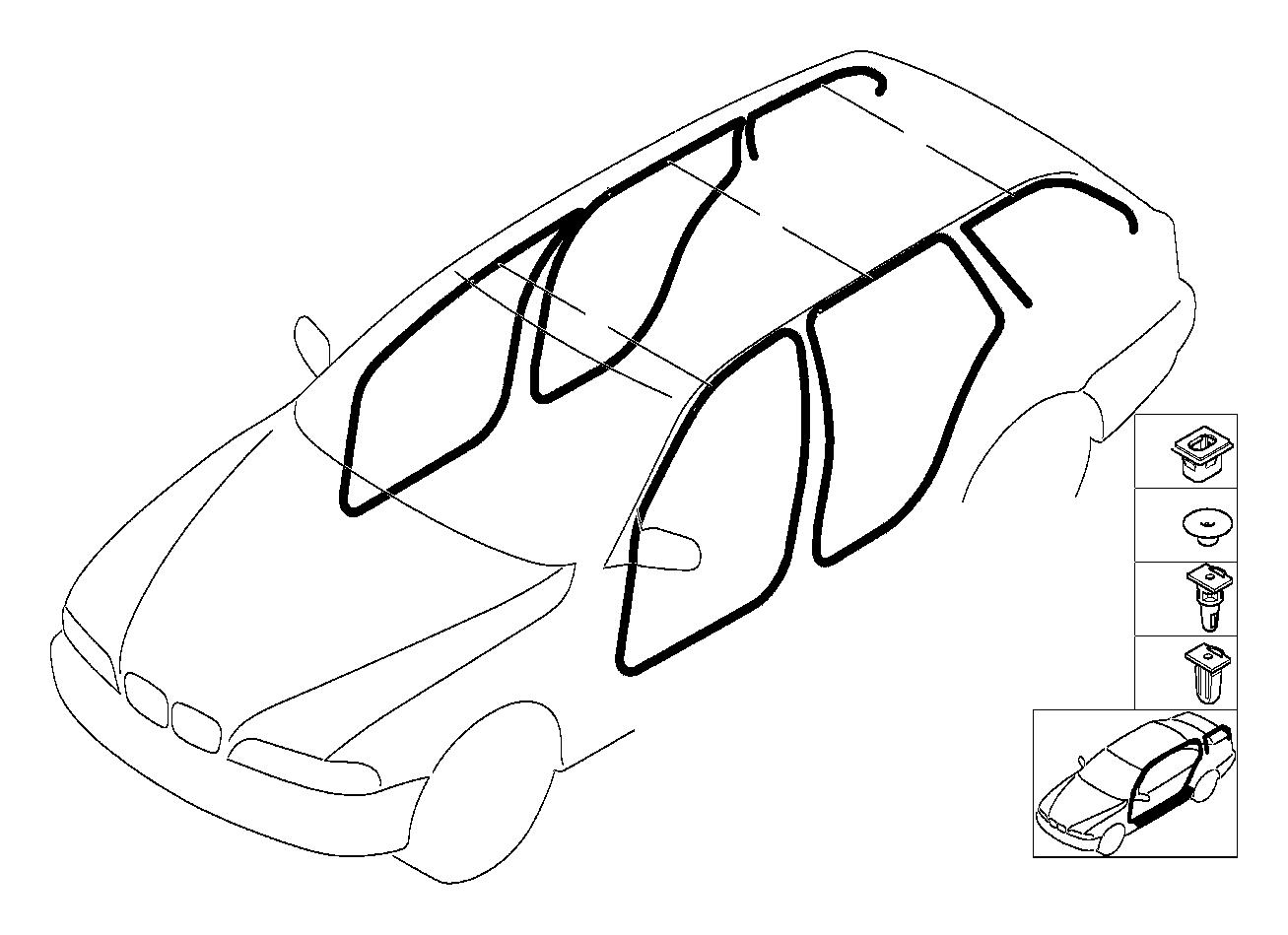 Bmw 525i Sill Strip Front Grau Trim Interior Equipment