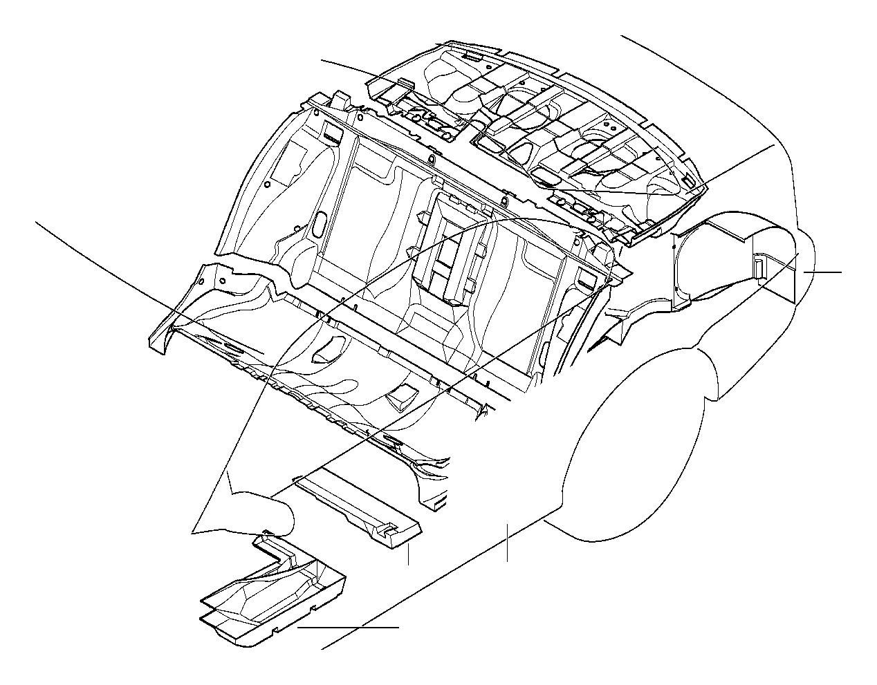 Bmw 528i Sound Insulating Wheel Housing Rear Left