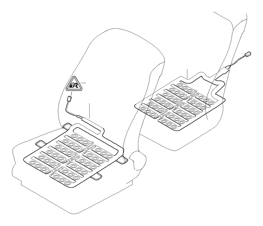 Bmw 760li Sensor Mat Front Seat Airbag Electrical