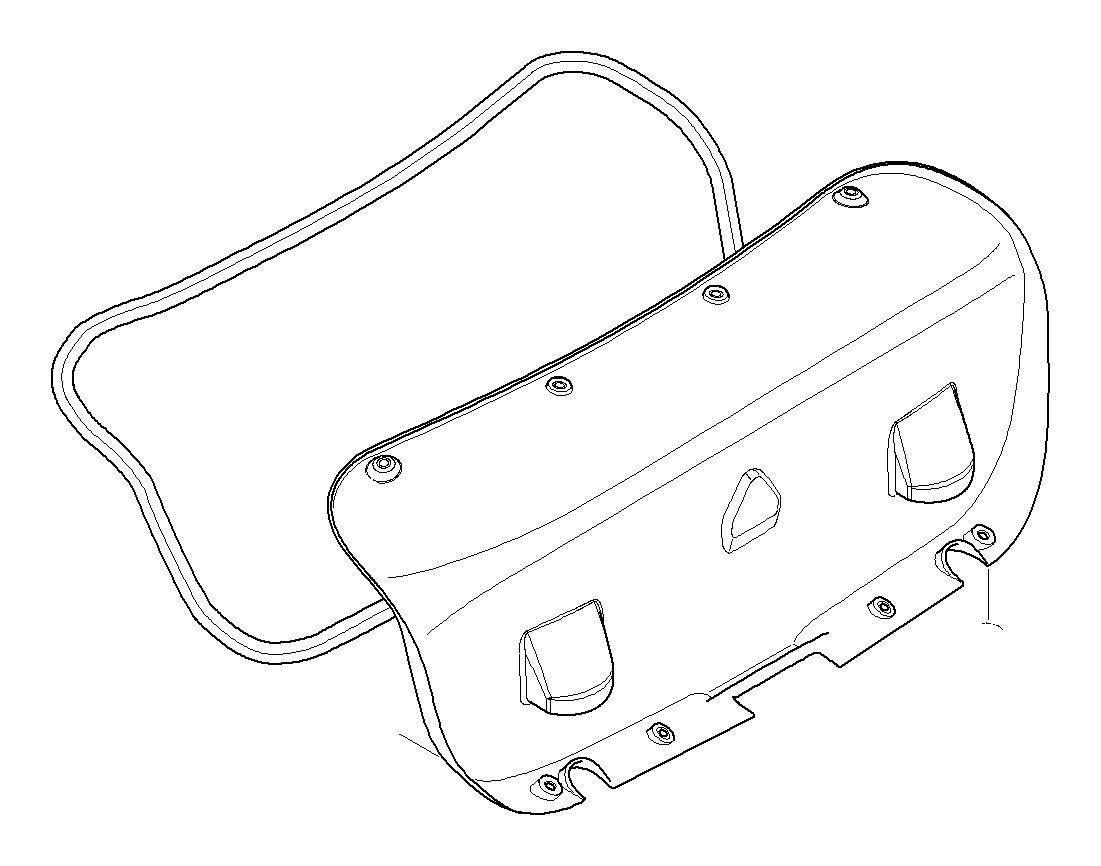 Bmw 335xi Trunk Lid Gasket Trim Body