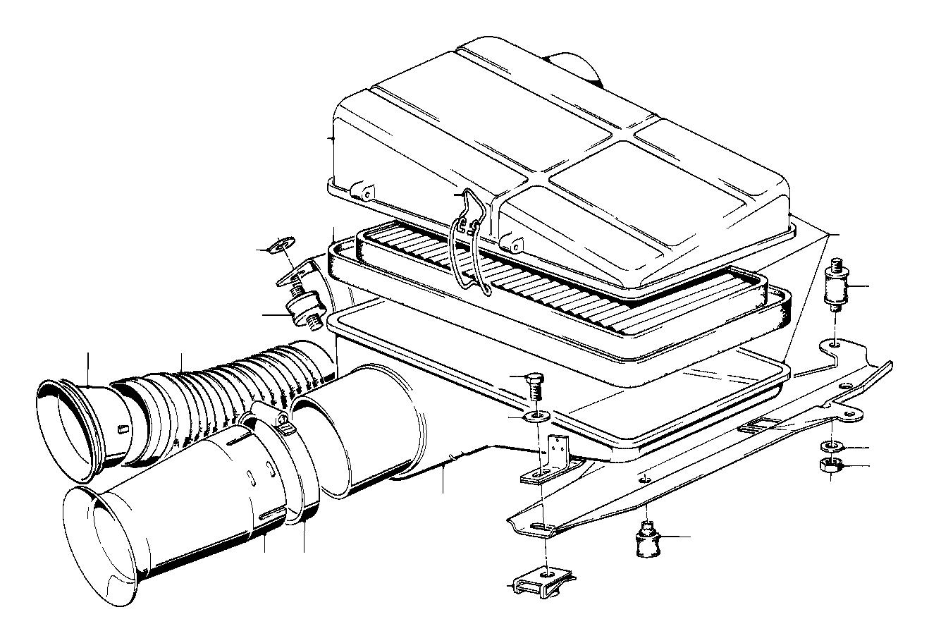 Bmw 735i Intake Tube Silencer Fuel Filter