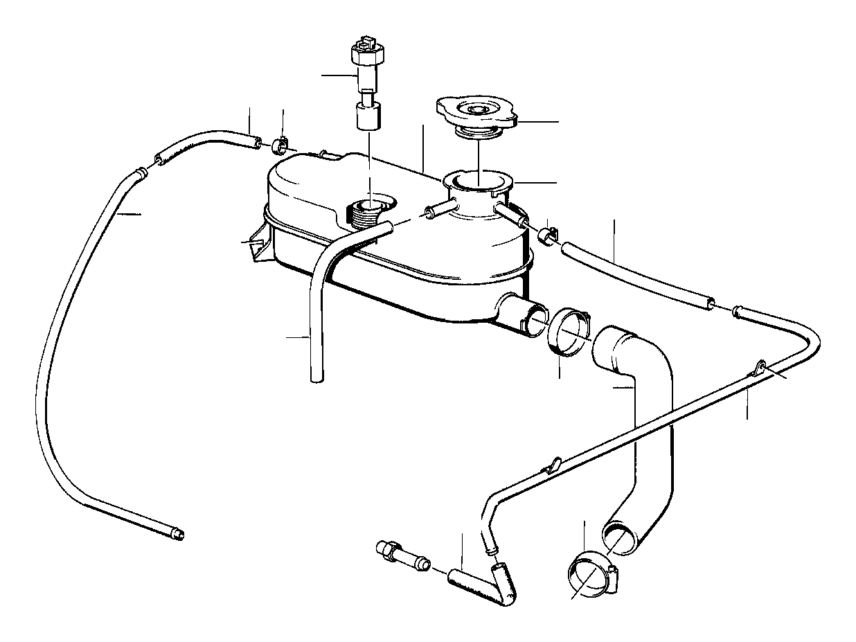 Bmw 740il Hose 7x10mm Cooling Radiator