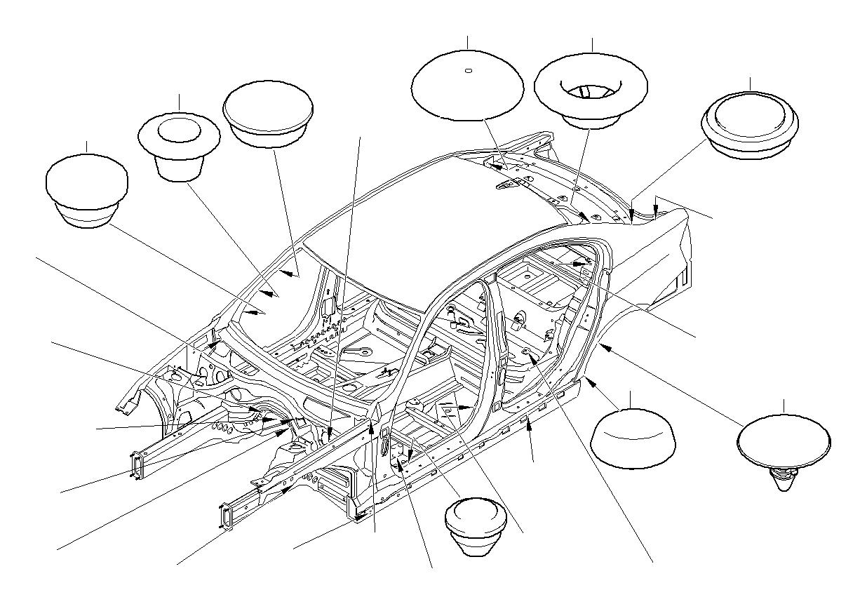 Bmw 760li Blind Plug D 10mm Alpina Body Trim