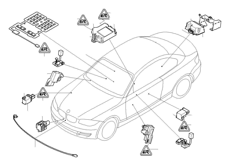 Bmw 335i Accelerating Sensor Electric Airbag Electrical
