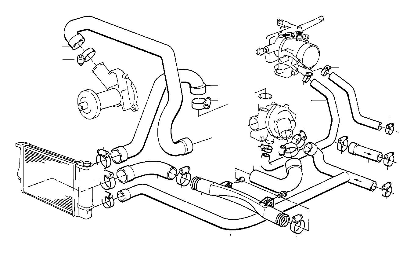 Bmw 325e Water Hose Engine Cooling Hoses