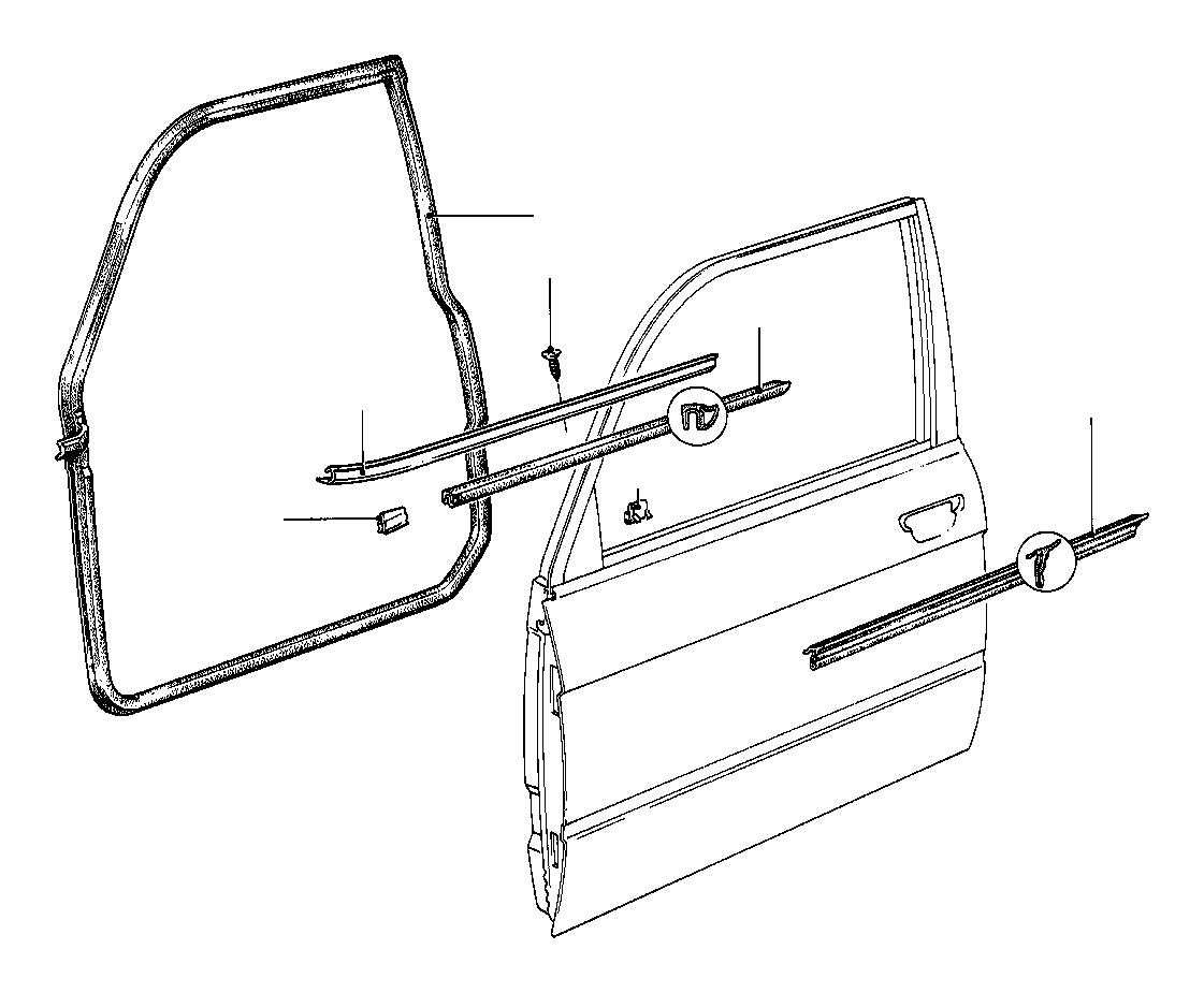 Bmw 528e Moulding Front Left Schwarz Door