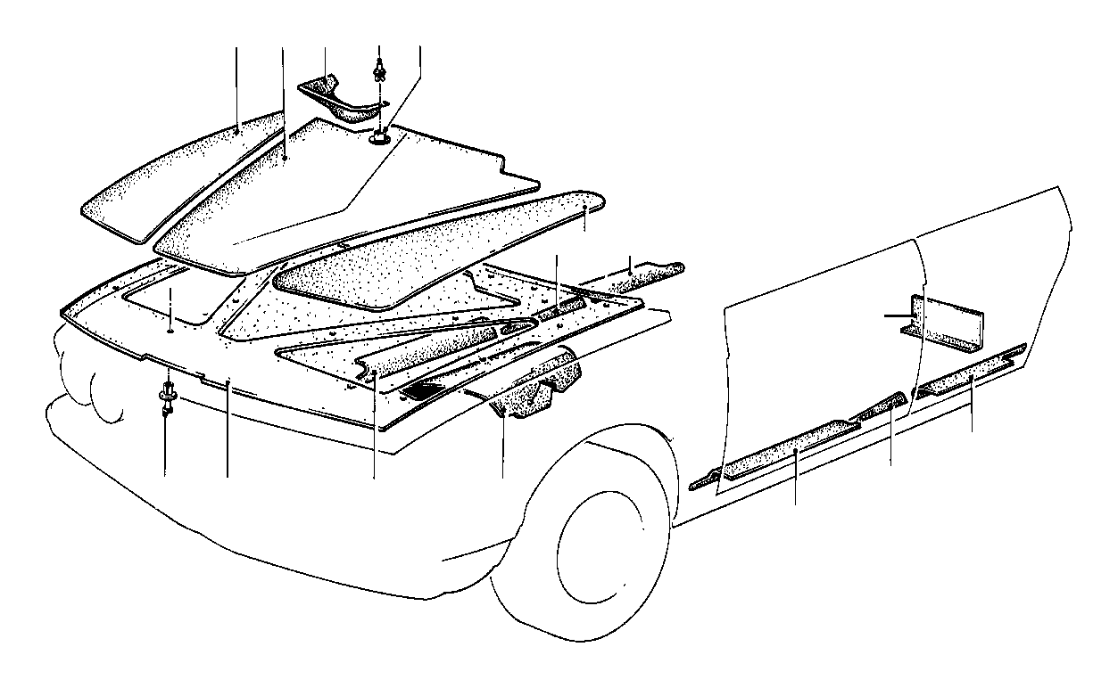 Bmw 323i Expanding Rivet Trim Body Compartment