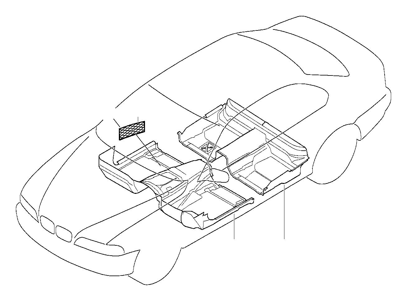Bmw 528i Floor Covering Rear Grau Trim Body Interior