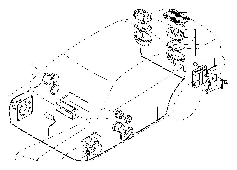 Bmw 325is Audio Wiring Harness Hifi System Single