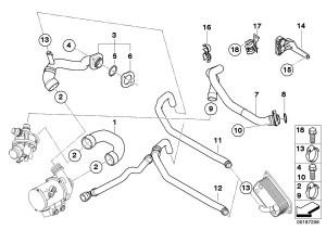 2009 BMW X5 Hose, cylinder headthermostat Engine, Cooling, Hoses  11537550062 | BMW, Stratham NH