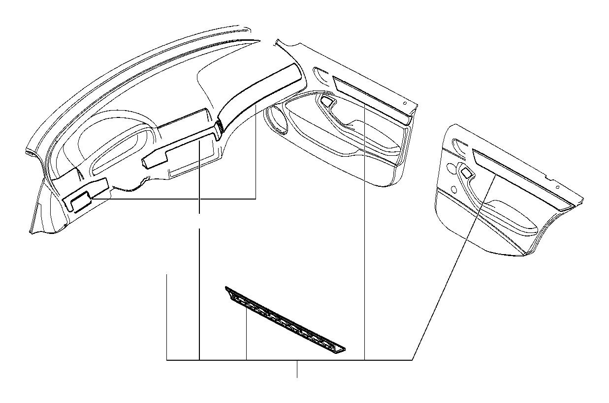 Bmw 325xi Sedan Bottom Panel Depositing Box Wood