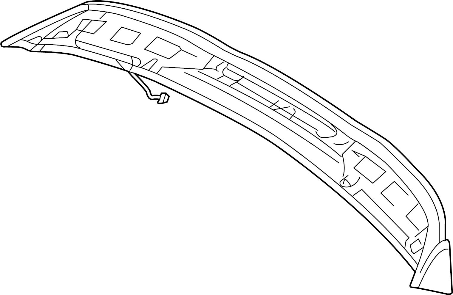 Porsche Cayenne Spoiler Panel 18 18 W O