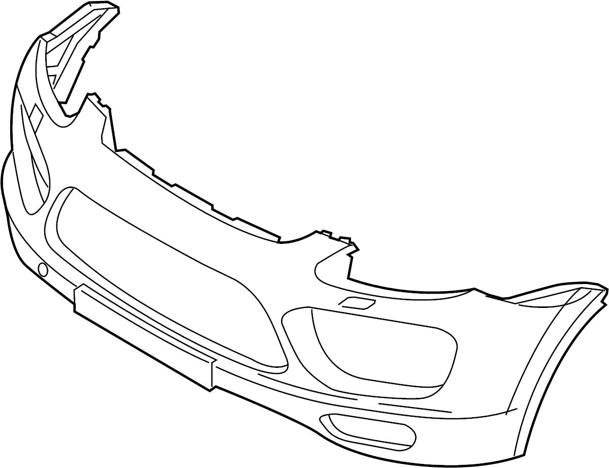 Porsche Cayenne Bumper Cover Components Park Sensor