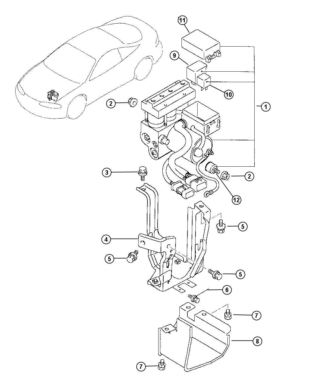 Chrysler Sebring Modulator Anti Lock Brake System