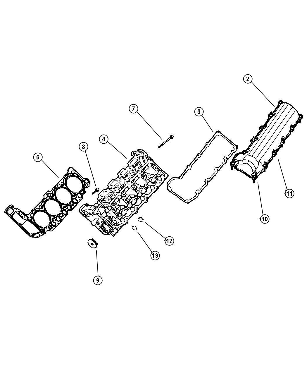 Jeep Grand Cherokee Gasket Package Engine Upper Cylinder
