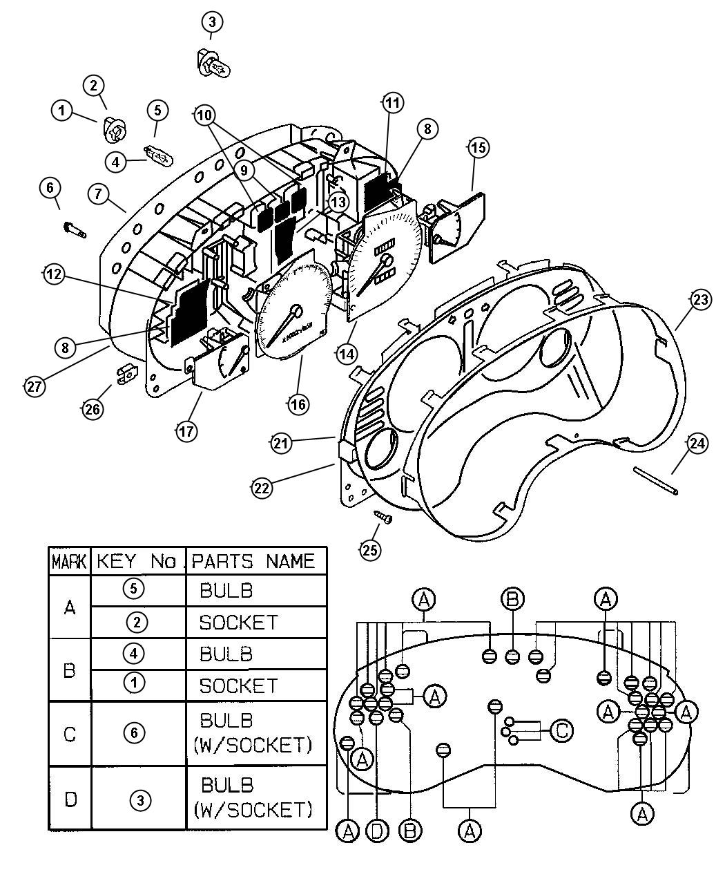 Chrysler Sebring Nut Spring Cluster Instrument Panel