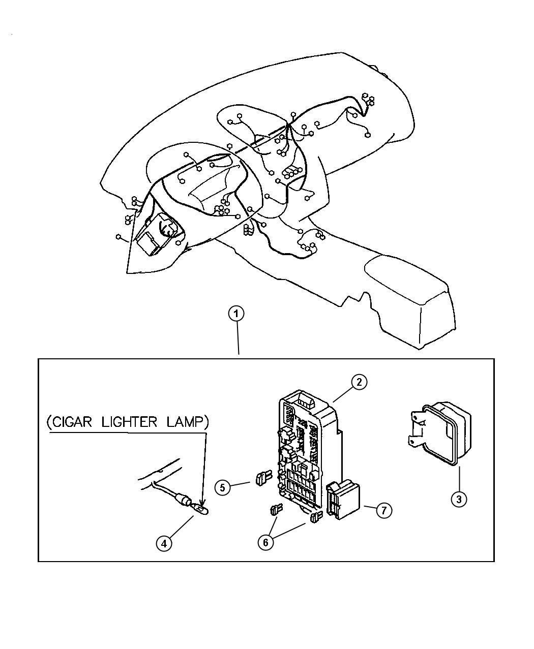 Chrysler Sebring Block Fuse Wiring Panel Mopar