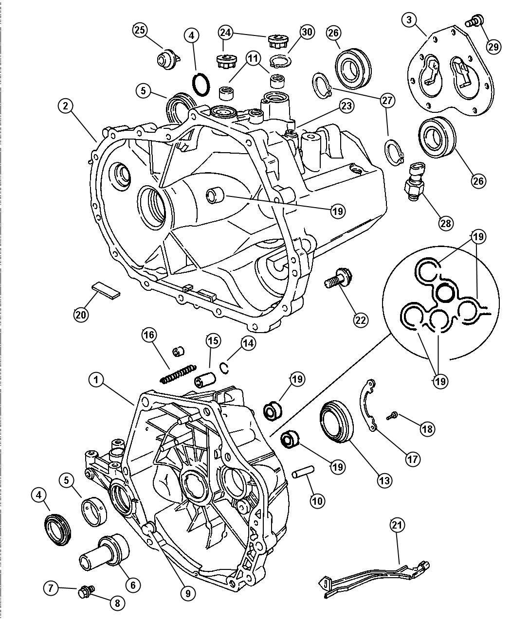 Chrysler Sebring Snap Ring Select Detent