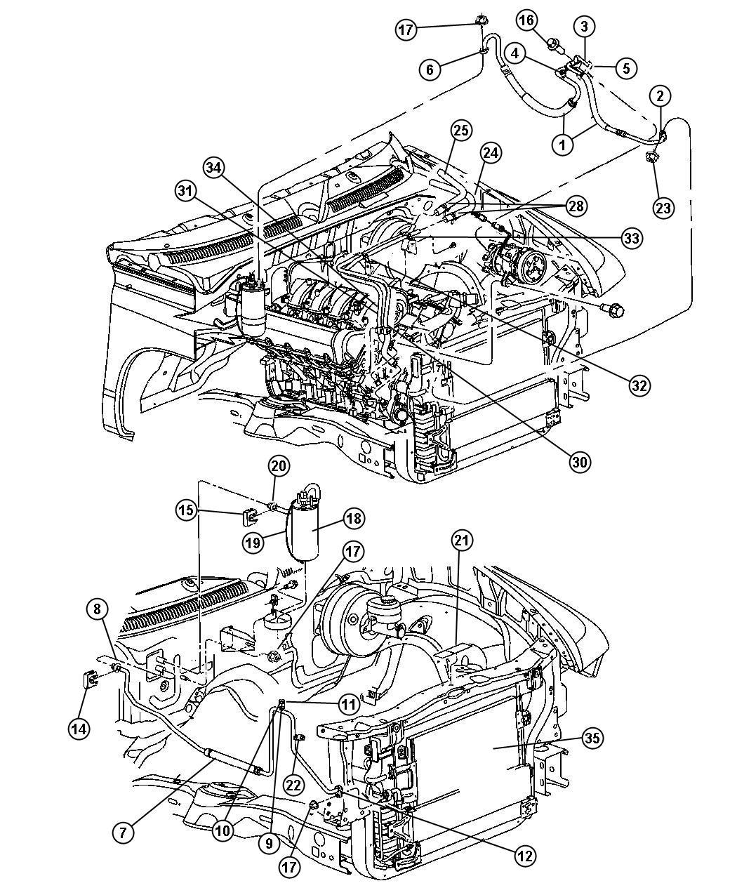 Dodge Durango Drier Air Conditioning Filter Plumbing