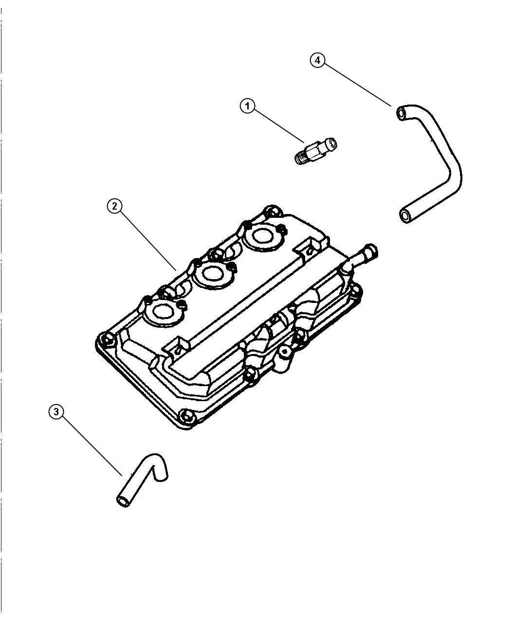 Dodge Intrepid Hose Cylinder Head To Intake Manifold Pcv