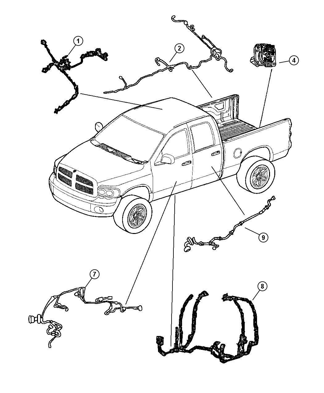Dodge Ram Wiring Rear Door With Power Locks