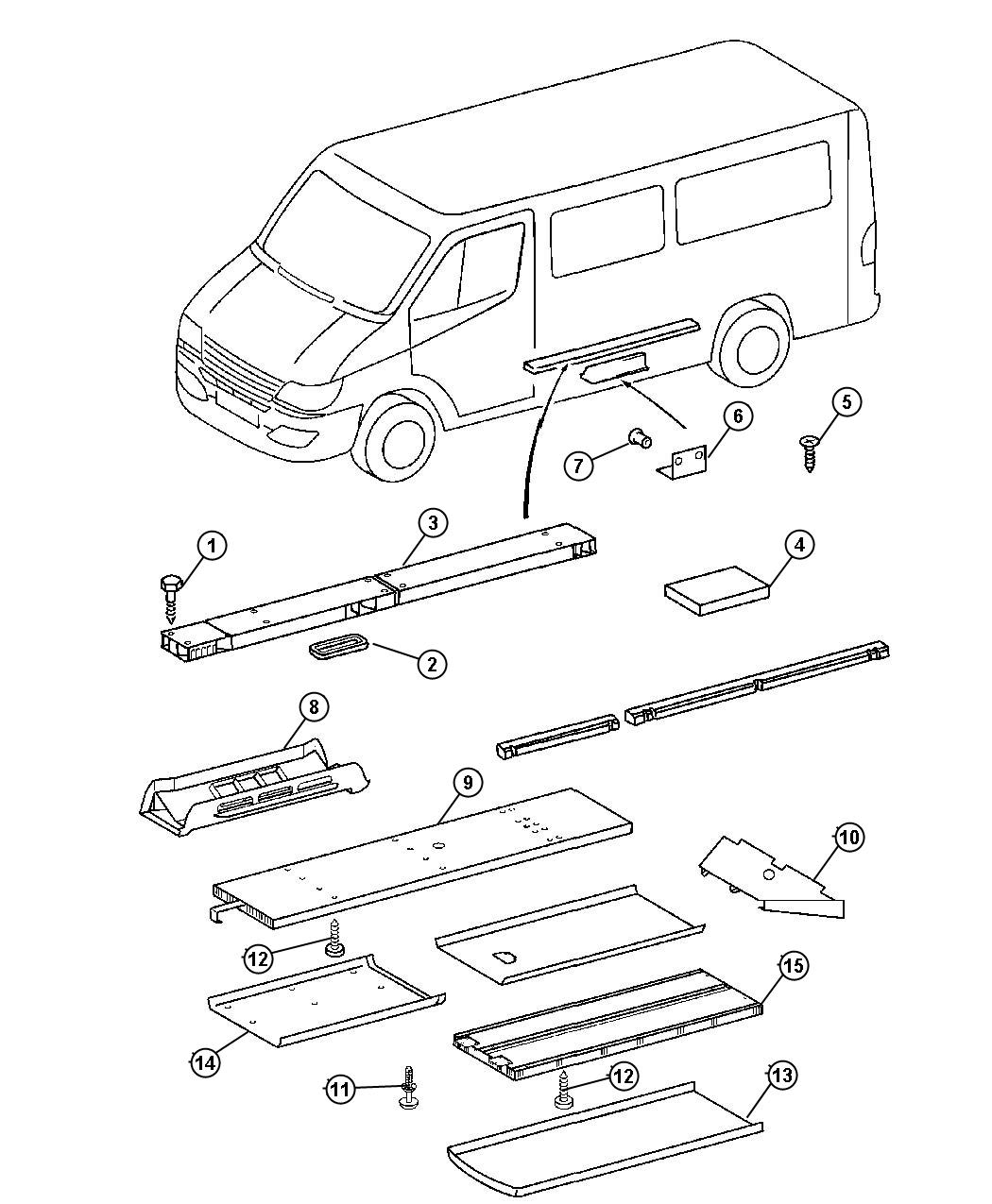 Dodge Sprinter Air Duct Rear Conditioning Version