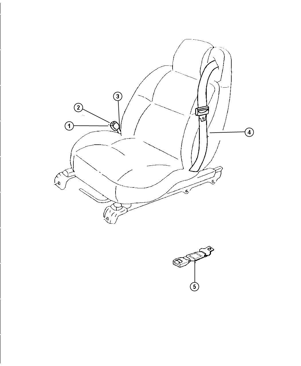 Chrysler Sebring Seat Belt Front Left Bp Trim