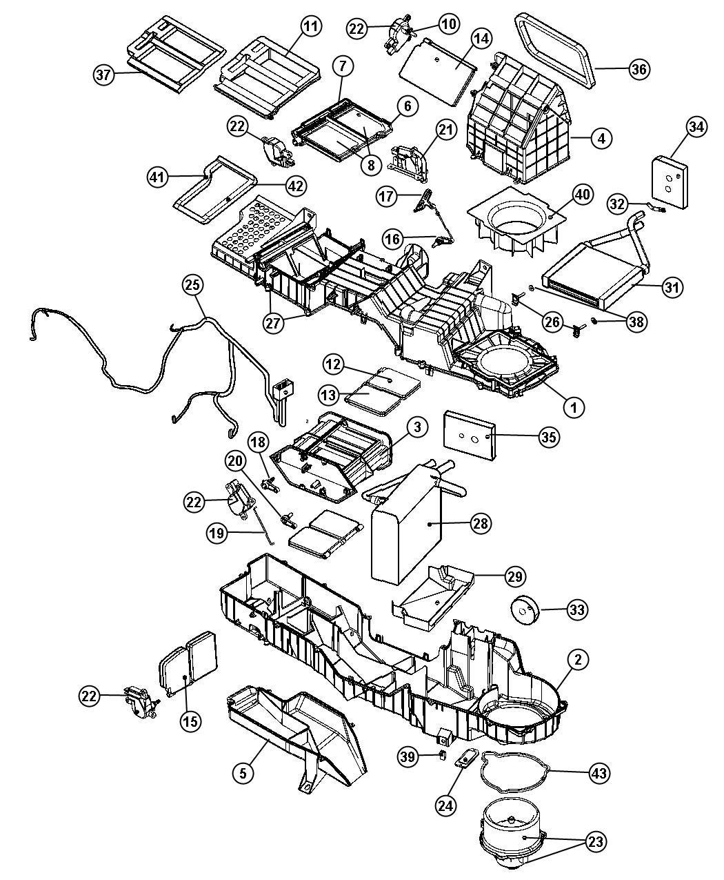 Dodge Ram Packing Heater Core