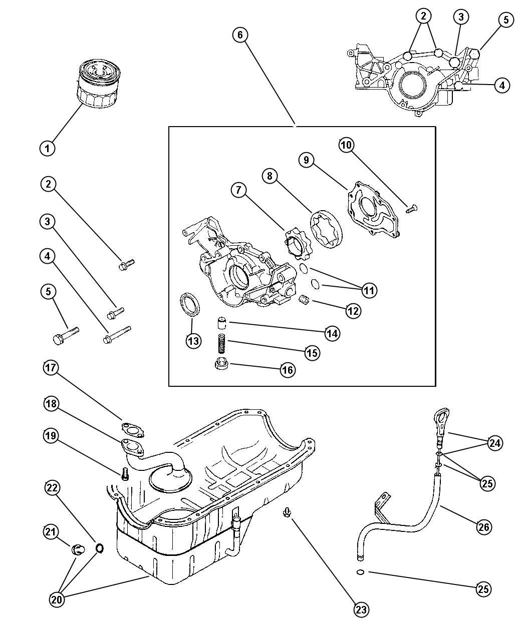 Dodge Stratus Plug Cylinder Block Oil Hole Engine Oil