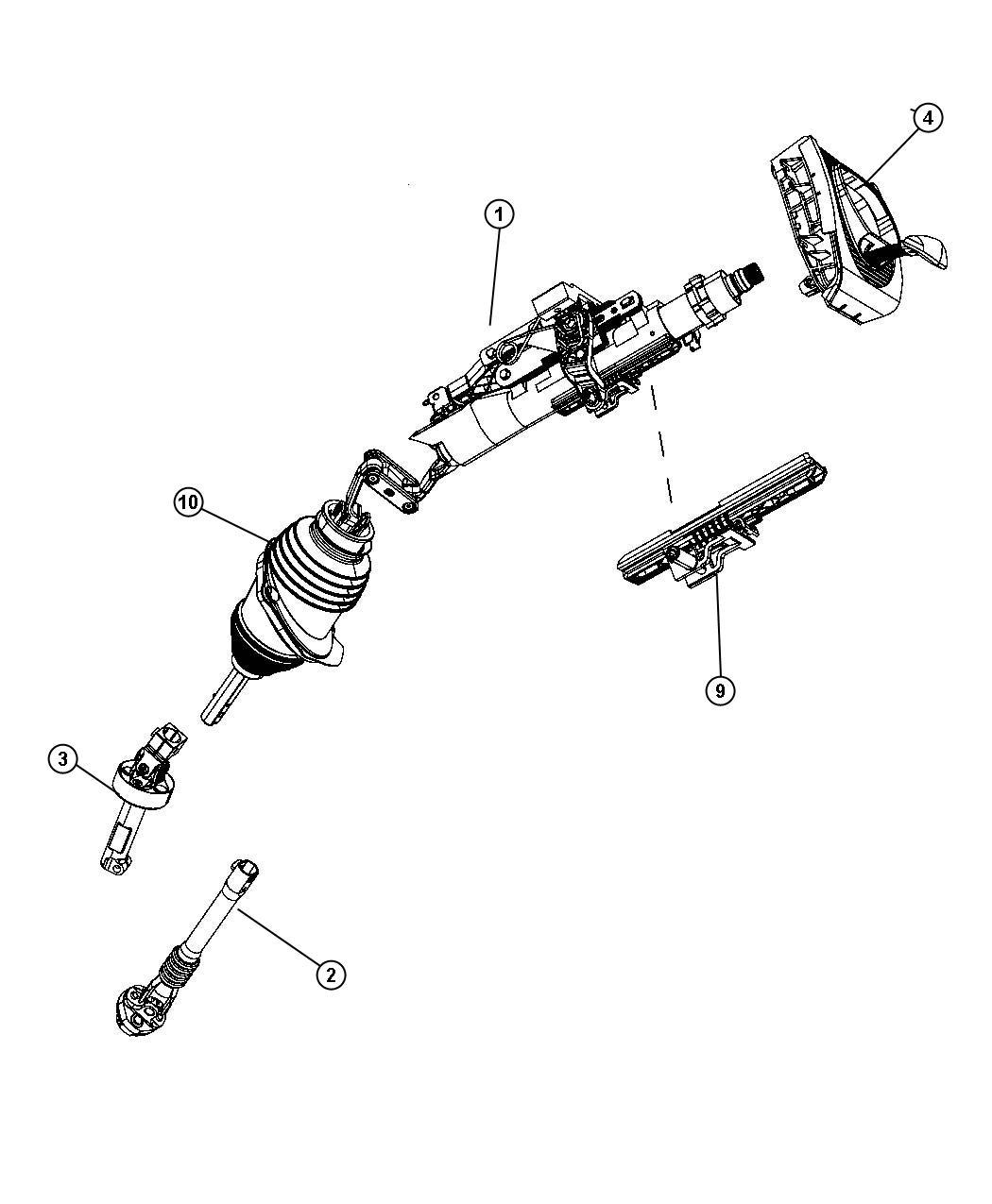 Dodge Magnum Boot Package Steering Column Tilt