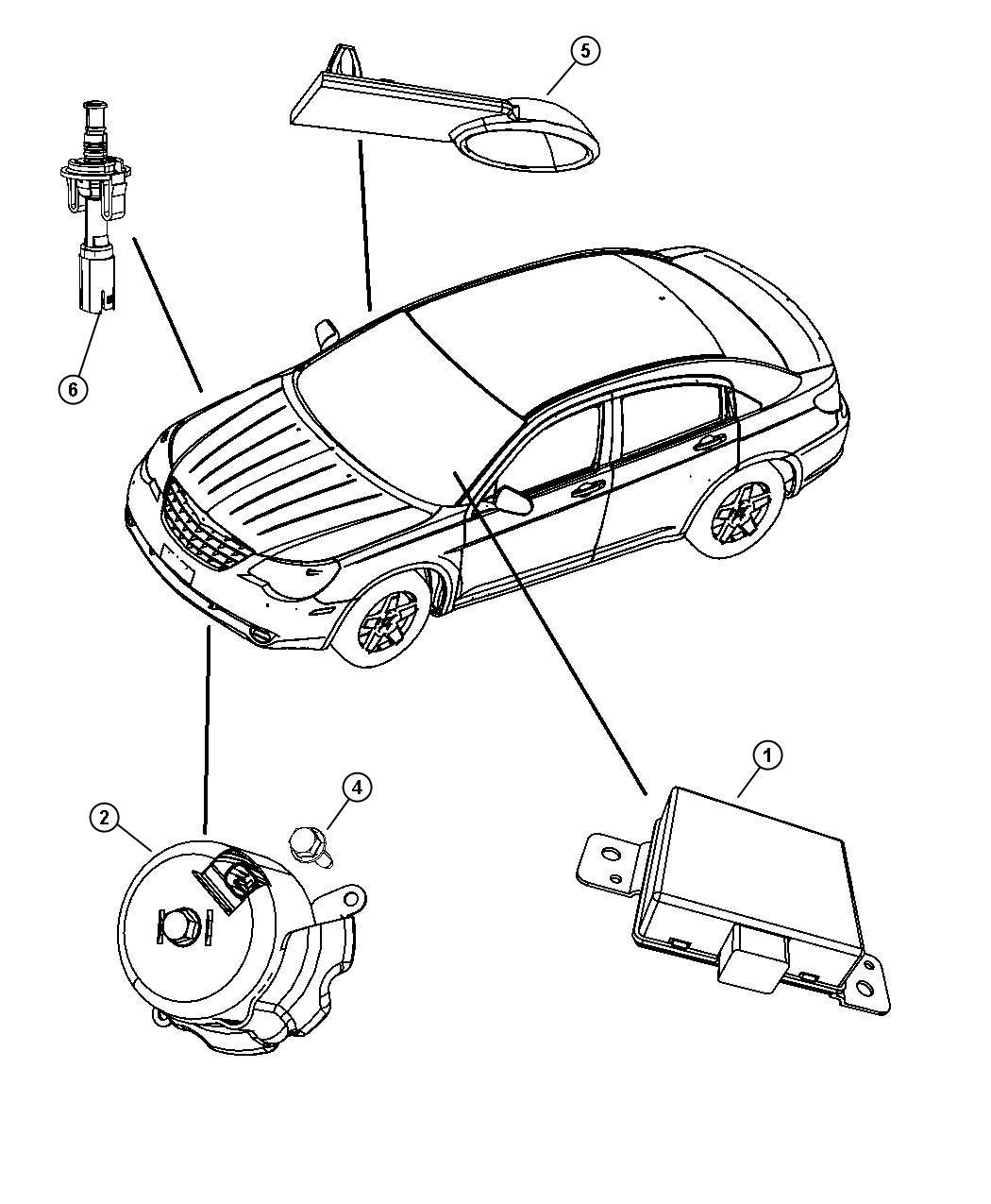 Chrysler Sebring Nut Locking Mounting