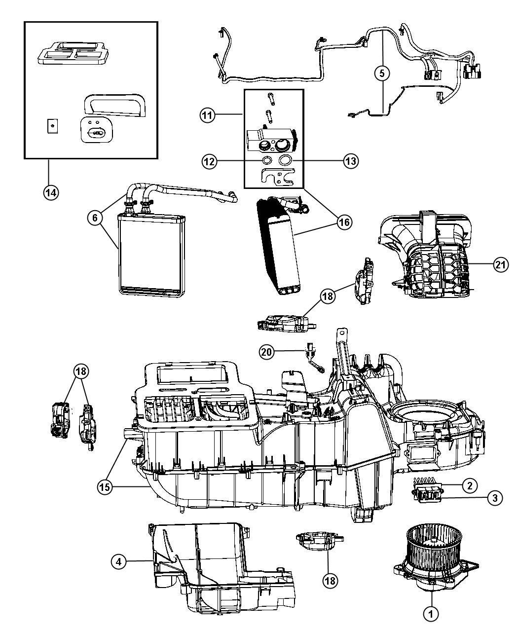 Chrysler Aspen Module Power Blower Motor