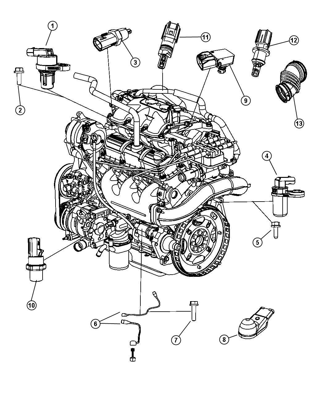 Chrysler Town Amp Country Sensor Camshaft Electronic Gas