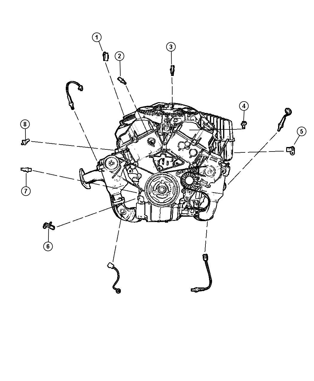 Chrysler 300 Sensor Crankshaft Position Engine Sensors