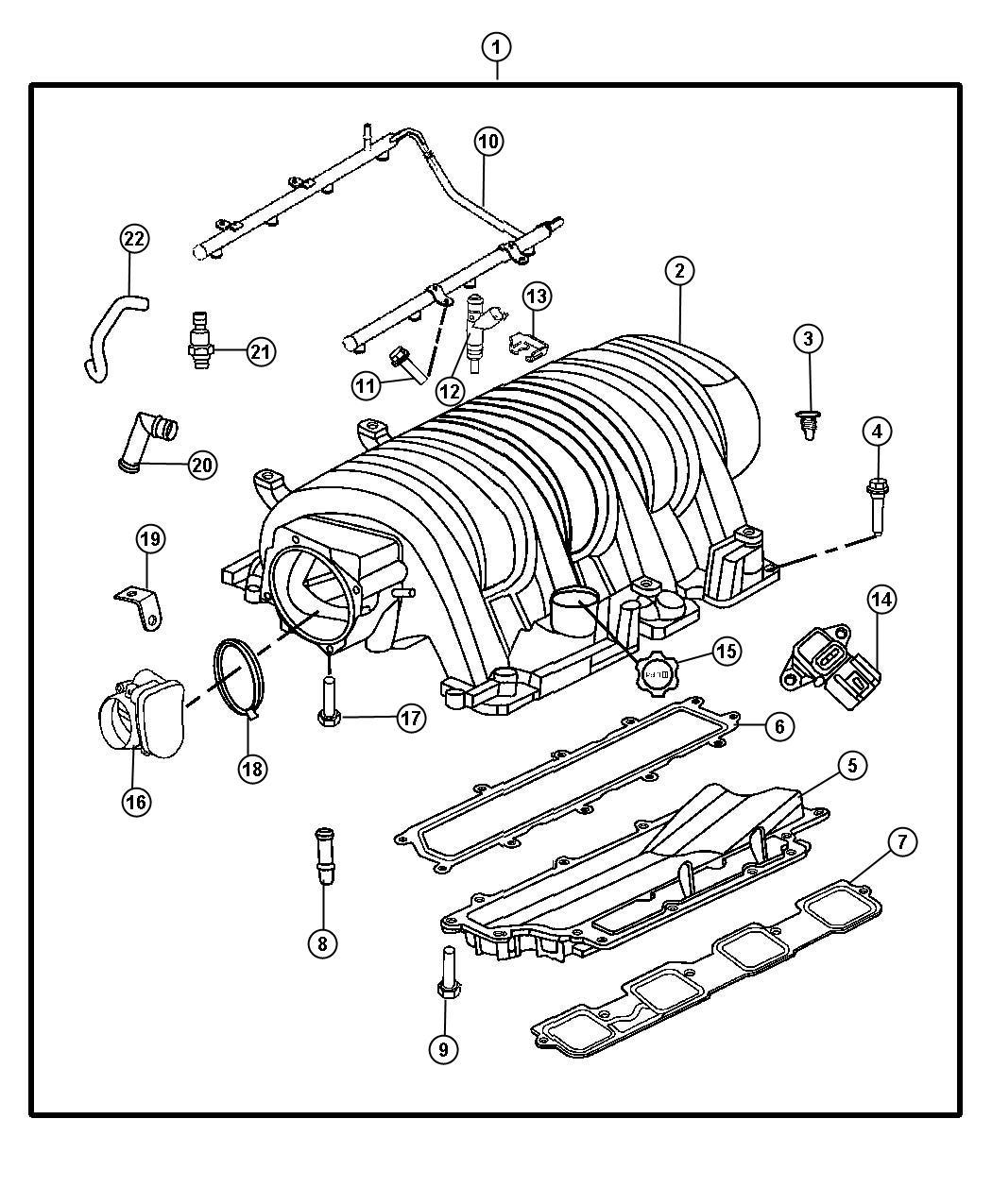 Dodge Charger Manifold Intake Engine Hemi Manifolds