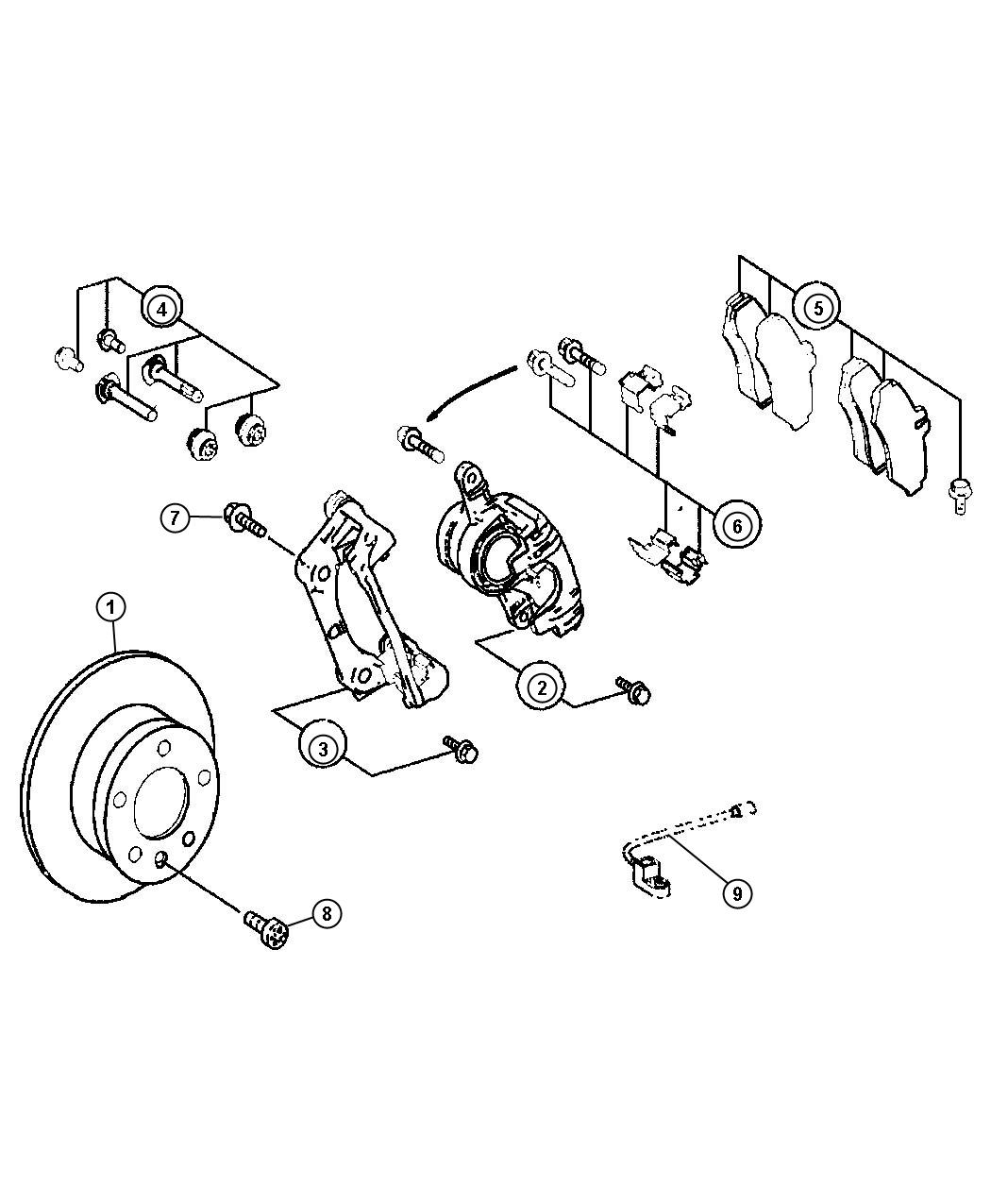 Dodge Sprinter Pad Kit Disc Brake Brakes Rear