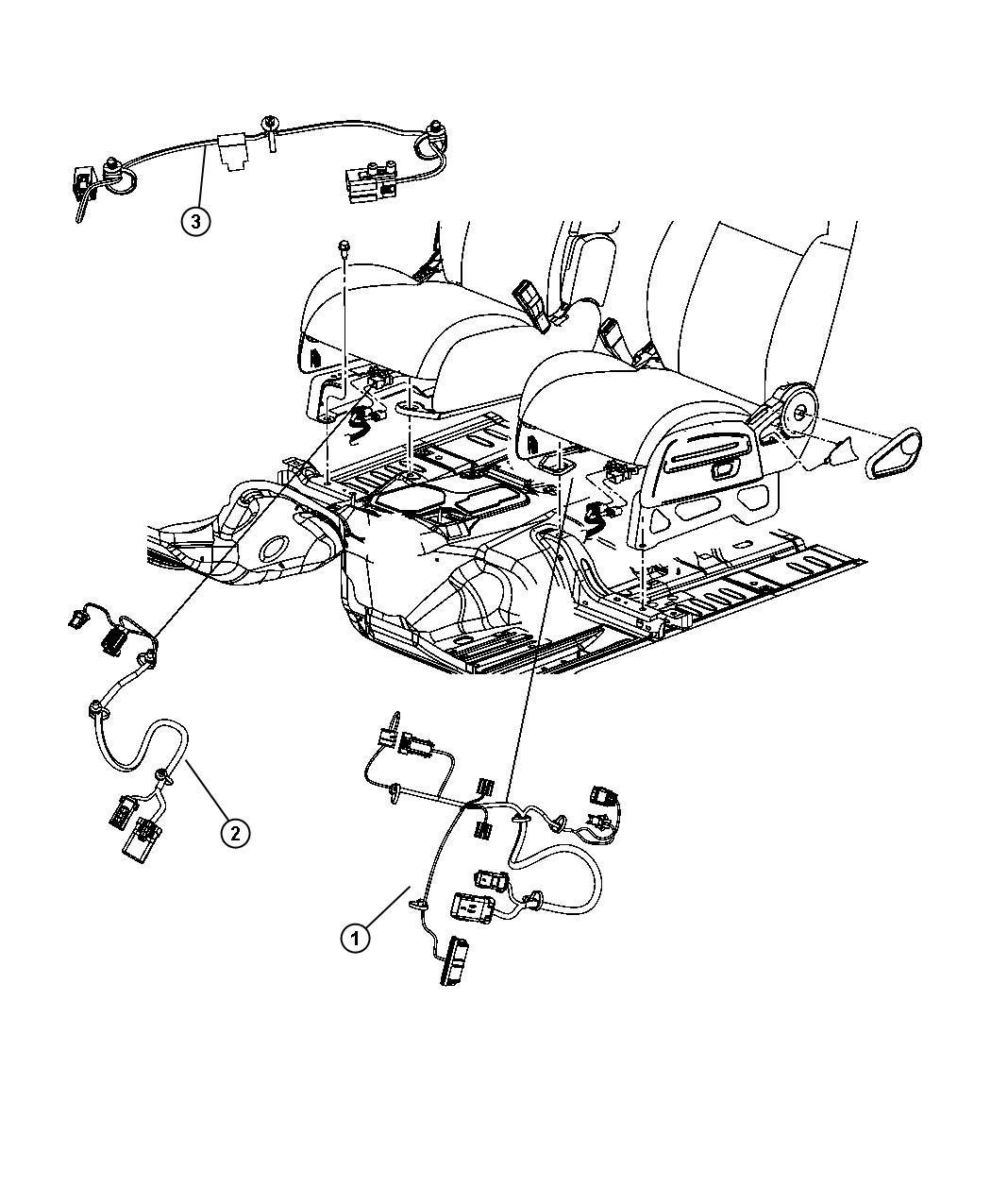 Dodge Caliber Wiring Seat Export Trim Premium Cloth