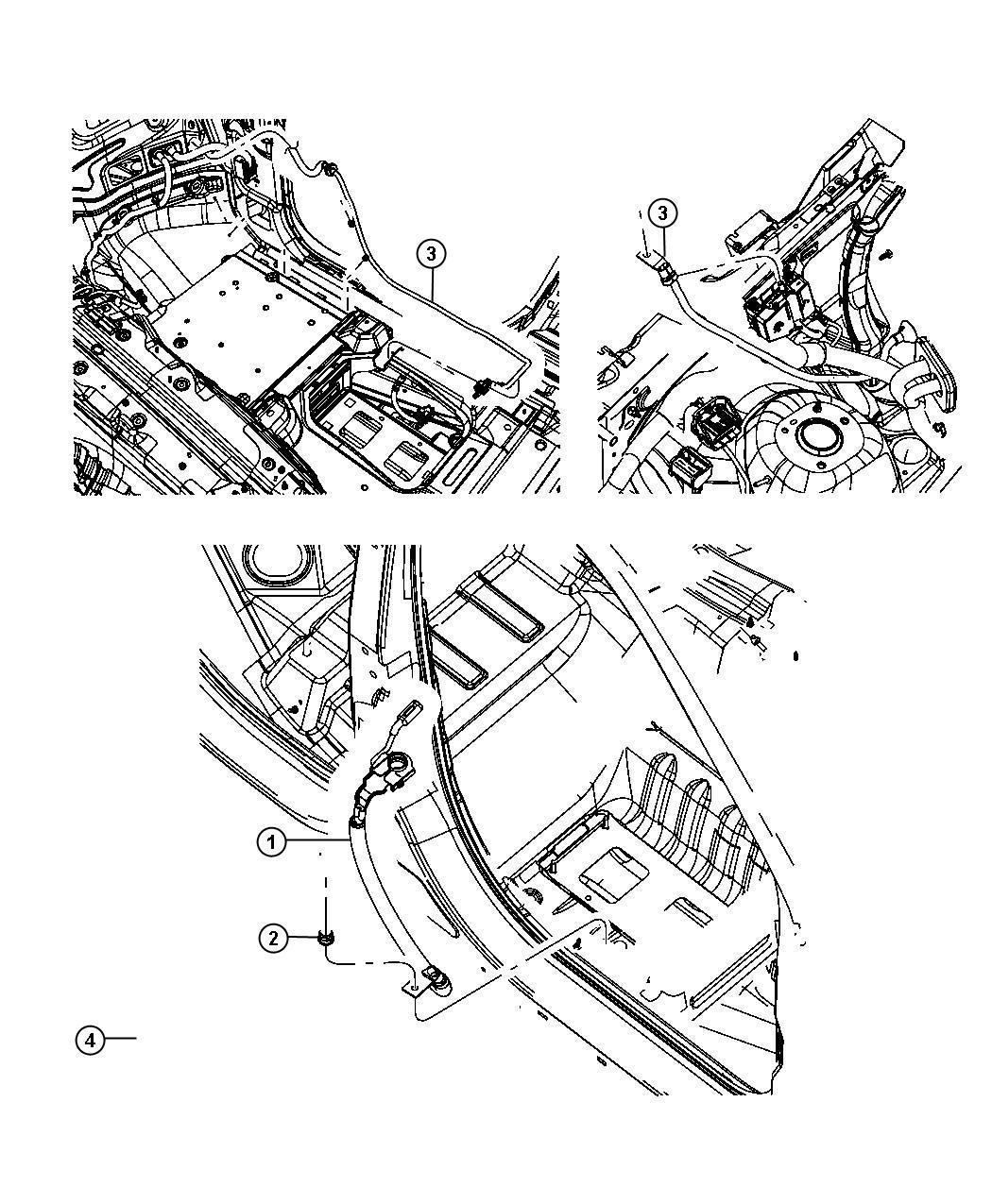 Jeep Grand Cherokee Terminal Kit Positive Battery Wiring