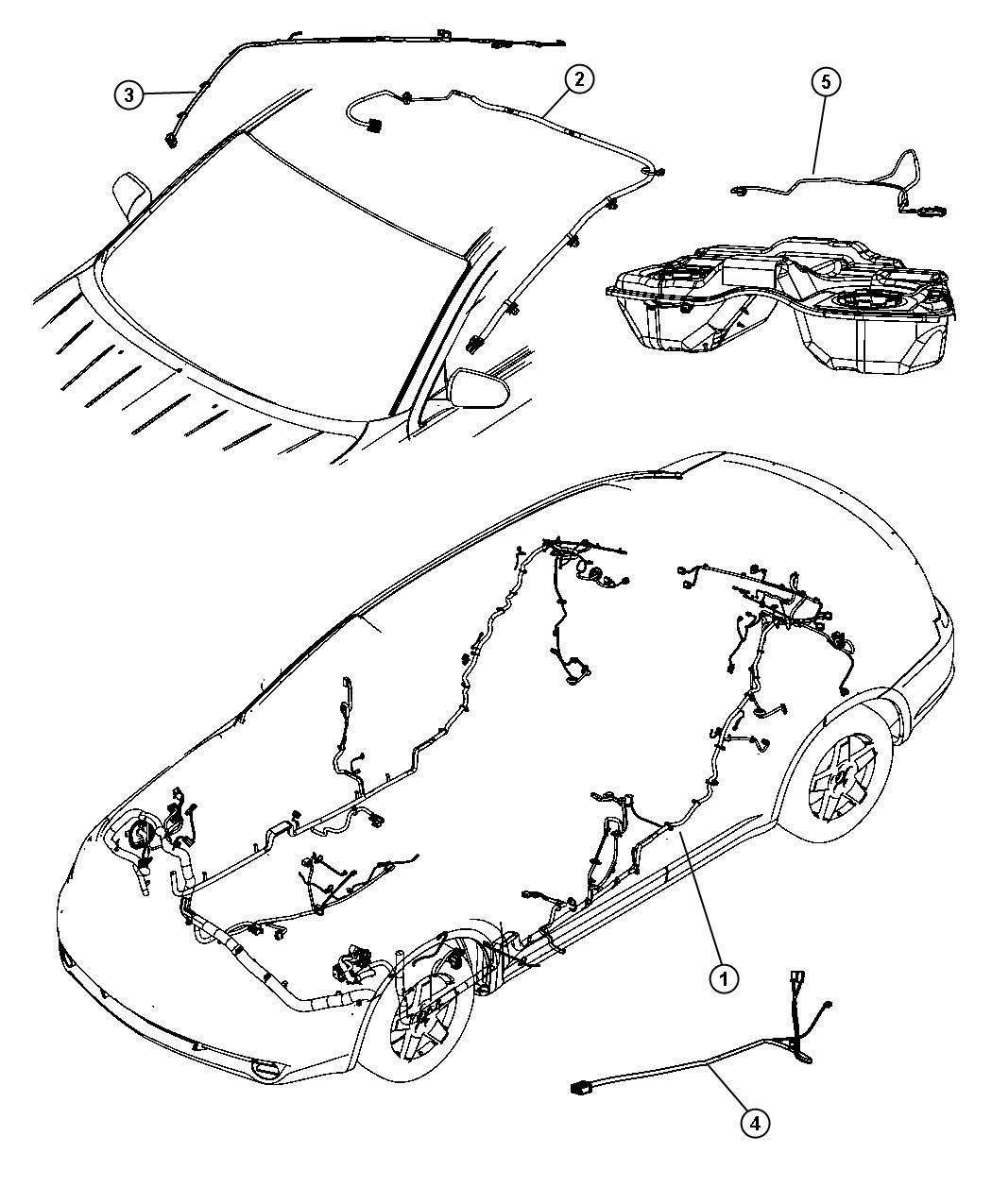 Chrysler Sebring Wiring Mirror Jumper Rear View Auto