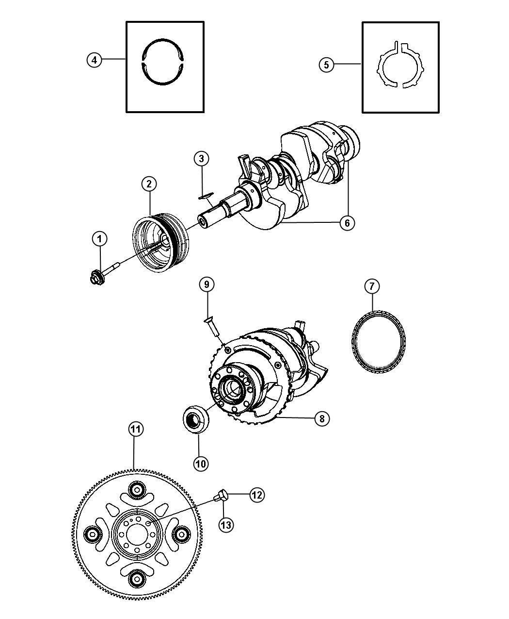 Dodge Dakota Crankshaft Engine Flywheel Damper