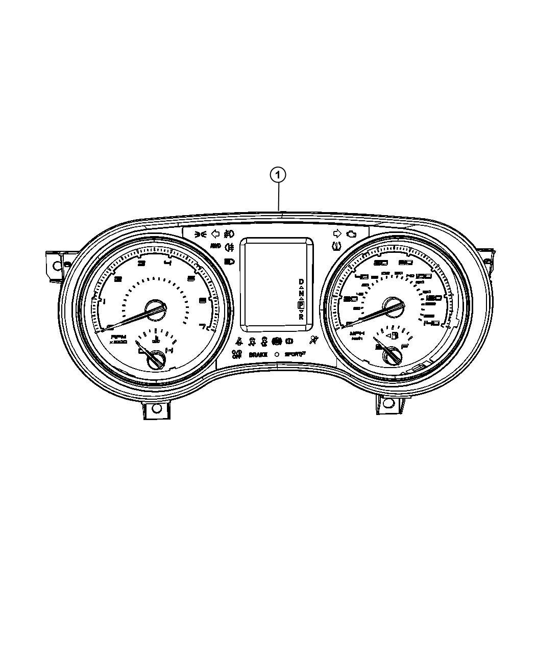 Dodge Charger Cluster Instrument Panel 160 Mph Primary