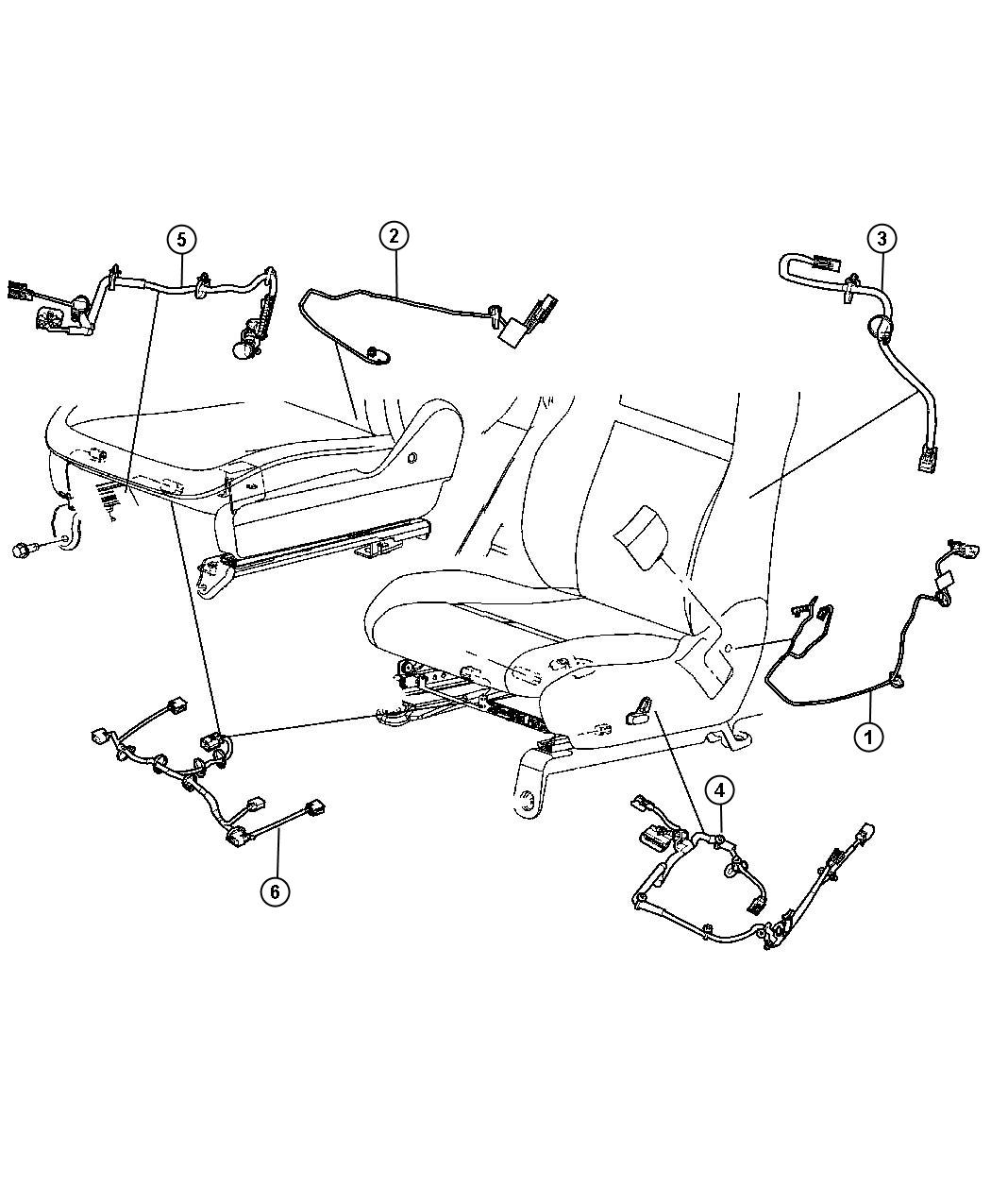 Jeep Grand Cherokee Wiring Power Seat Trim Leather