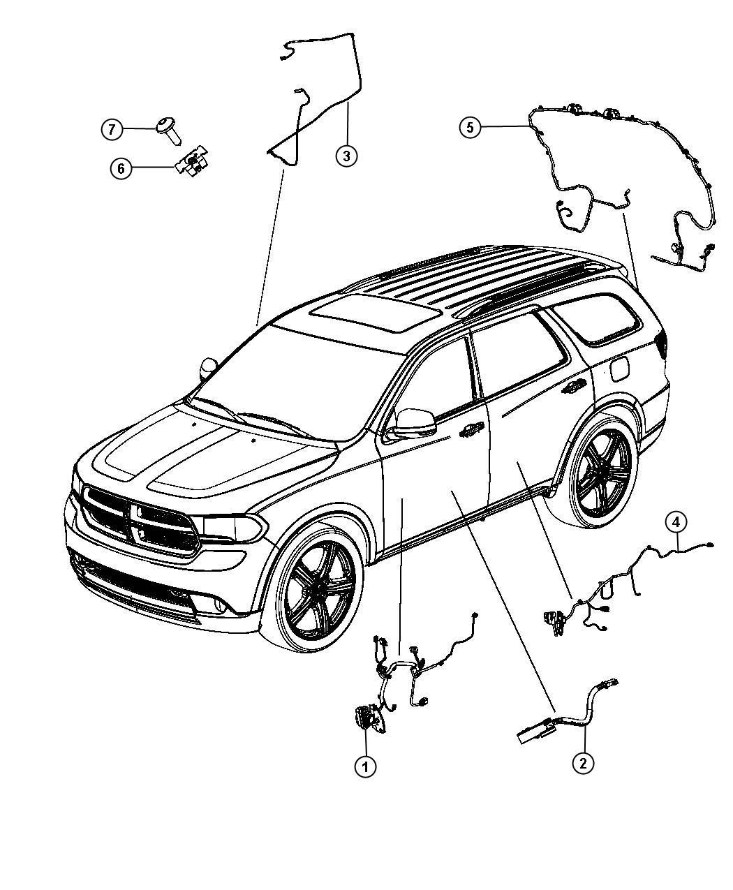 Dodge Durango Wiring Rear Door Right Remote Proximity