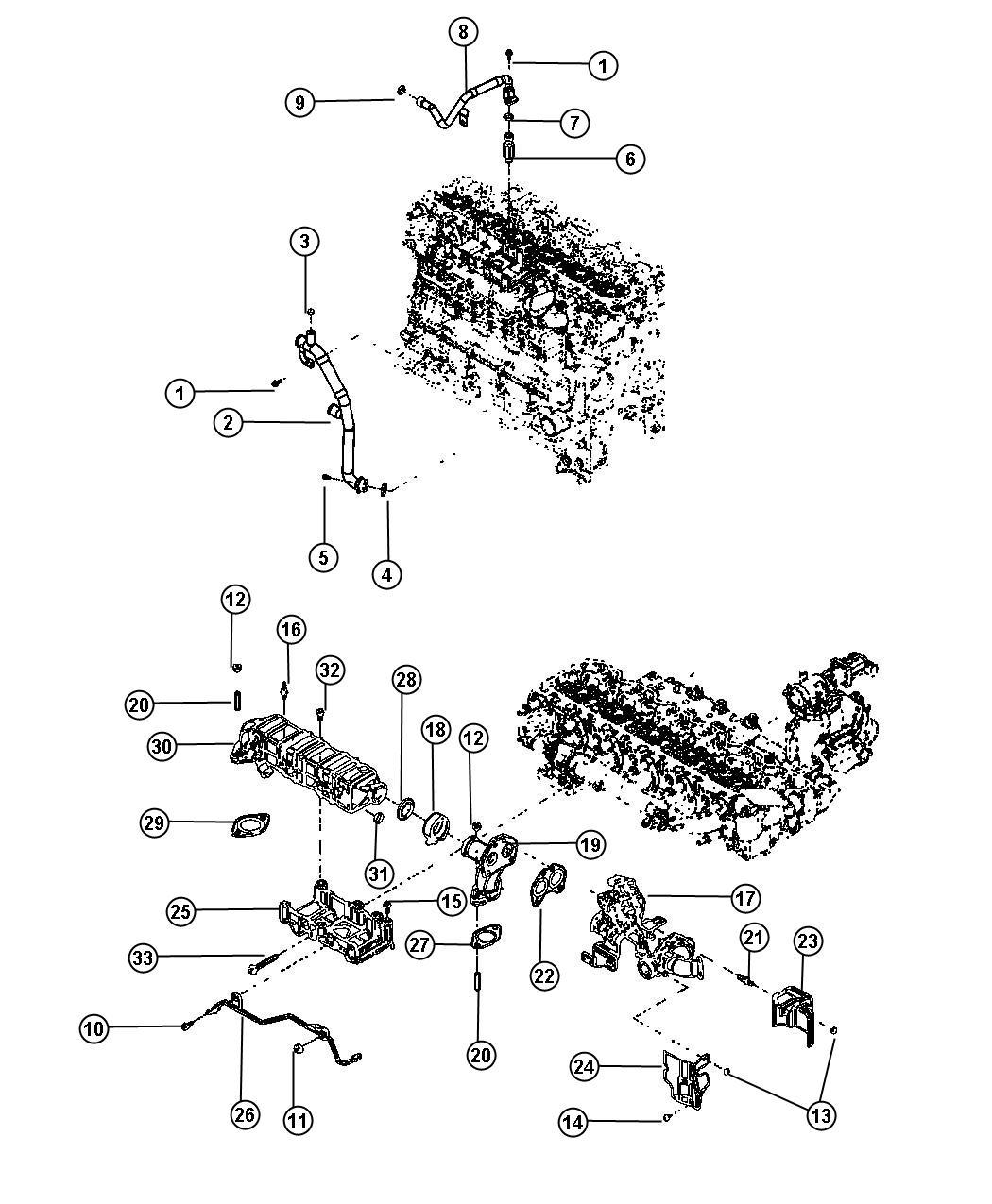 Dodge Ram Tube Egr Pressure Sensing 50 State